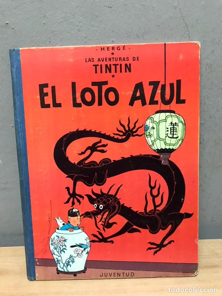 TINTÍN Y EL LOTO AZUL PRIMERA EDICIÓN AÑO 1965 EN MUY BUEN ESTADO (Tebeos y Comics - Juventud - Tintín)