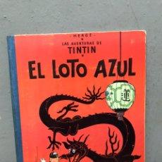 Comics : TINTÍN Y EL LOTO AZUL PRIMERA EDICIÓN AÑO 1965 EN MUY BUEN ESTADO. Lote 197508141