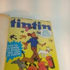 Comics : COLECCIÓN DE 20 NÚMEROS DE LA REVISTA TINTIN. DEL 1 AL 20. ENCUADERNADO EN UN TOMO. 1981. BARCELONA. Lote 197577377