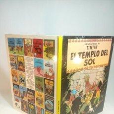 Cómics: LAS AVENTURAS DE TINTIN. EL TEMPLO DEL SOL. HERGÉ. JUVENTUD. TAPA DURA. 1988.. Lote 197750520
