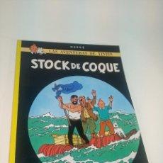 Cómics: LAS AVENTURAS DE TINTIN. STOCK DE COQUE. HERGÉ. JUVENTUD. TAPA BLANDA. 1982.. Lote 197751565