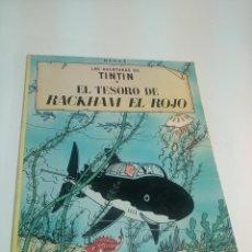 Cómics: LAS AVENTURAS DE TINTIN. EL TESORODE RACKHAM EL ROJO. HERGÉ. JUVENTUD. TAPA BLANDA. 1979.. Lote 197752177