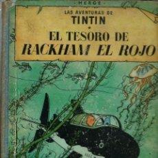 Cómics: HERGE - TINTIN - EL TESORO DE RACKHAM EL ROJO - JUVENTUD 1960, 1ª PRIMERA EDICION - VER DESCRIPCION. Lote 198852875