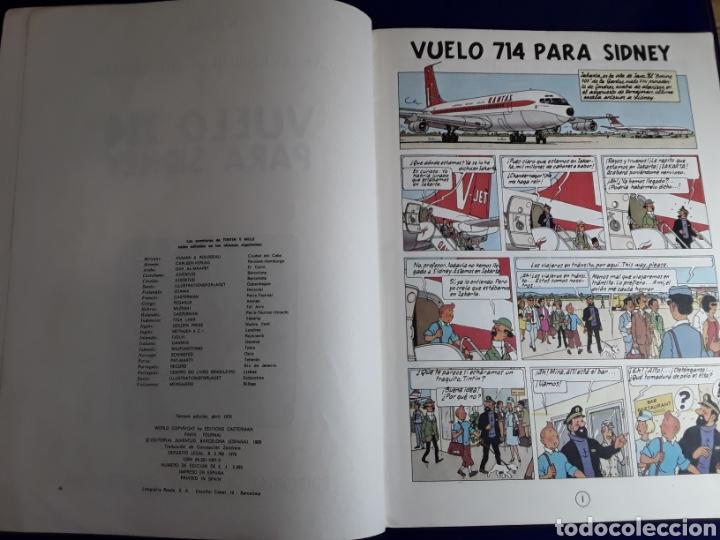 Cómics: Cómic de las aventuras de tintín(vuelo 714 para sidney) - Foto 3 - 198933102