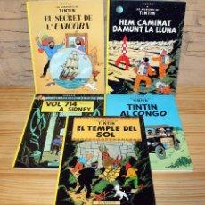 Cómics: LOTE DE 5 EJEMPLARES DE TINTIN - EN CATALÀ - EN CATALAN. Lote 199578723