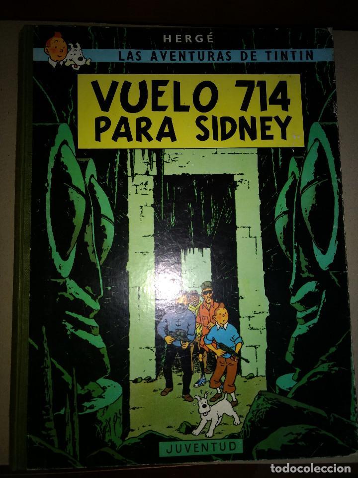 TINTIN -VUELO 714 PARA SIDNEY - HERGUE - 1º EDICION 1969 - EDITORIAL JUVENTUT (Tebeos y Comics - Juventud - Tintín)