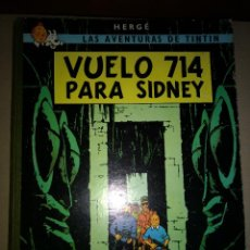 Cómics: TINTIN -VUELO 714 PARA SIDNEY - HERGUE - 1º EDICION 1969 - EDITORIAL JUVENTUT . Lote 199676601