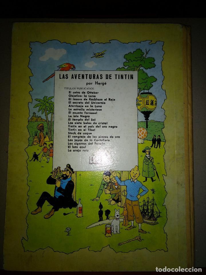 Cómics: TINTIN LAS JOYAS DE LA CASTAFIORE - 2º EDICION 1965 - EDITORIAL JUVENTUT - Foto 3 - 199677030