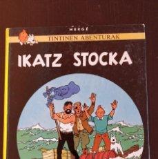 Cómics: *MUY BUENO* PRIMERA ED 1984 (TAPA DURA) TINTINEN ABENTURAK EUSKERA 'IKATZ STOCKA' _ ELKAR. Lote 199711738