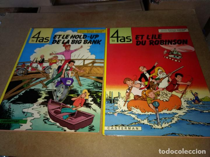 LOTE 2 COMIC 4 ASES- LES 4 AS CASTERMAN ORIGINAL 1970-1984 (Tebeos y Comics - Juventud - Tintín)