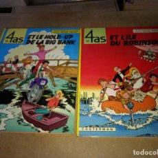 Cómics: LOTE 2 COMIC 4 ASES- LES 4 AS CASTERMAN ORIGINAL 1970-1984 . Lote 199747083