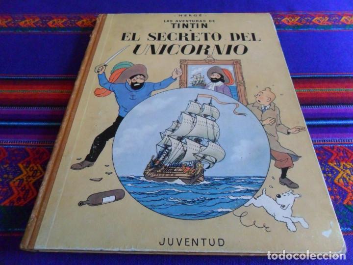 CORRECTO ESTADO, TINTIN EL SECRETO DEL UNICORNIO. JUVENTUD 2ª SEGUNDA EDICIÓN 1964. (Tebeos y Comics - Juventud - Tintín)