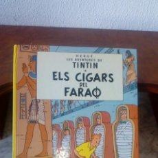 Cómics: TINTIN...ELS CIGARS DEL FARAO. Lote 201817640