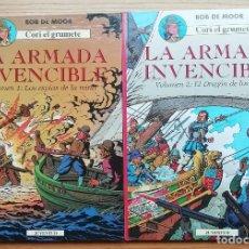 Comics : CORI, EL GRUMETE.LA ARMADA INVENCIBLE.LOS ESPÍAS DE LA REINA (VOL1) Y EL DRAGÓN DE LOS MARES (VOL2). Lote 202433395