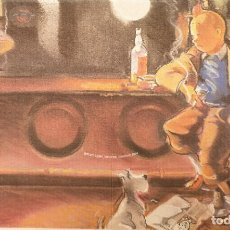 Comics : TINTIN EN BARRA. TINTIN POSTALES. HOMENAJE A HERGE. MAMAGRAF. Lote 203862221