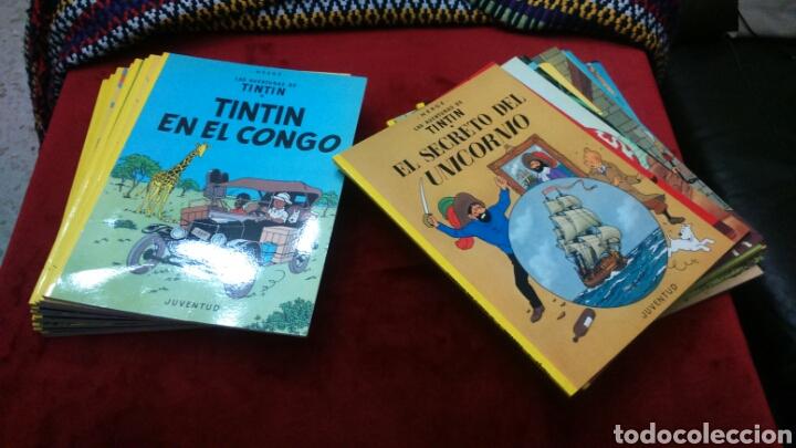 Cómics: TINTIN COLECCIÓN COMPLETA 23 COMIC TAPA BLANDA JUVENTUD MUY BUEN ESTADO - Foto 2 - 204223682