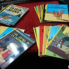 Cómics: TINTIN COLECCIÓN COMPLETA 23 COMIC TAPA BLANDA JUVENTUD MUY BUEN ESTADO. Lote 223981832