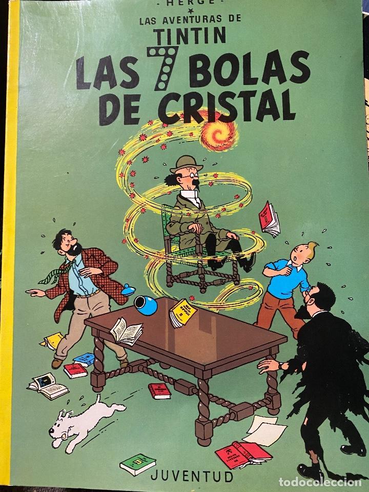 LAS AVENTURAS DE TINTIN. LAS 7 BOLAS DE CRISTAL. HERGÉ TAPA BLANDA. JUVENTUD- 1986.MBE TEVENI (Tebeos y Comics - Juventud - Tintín)