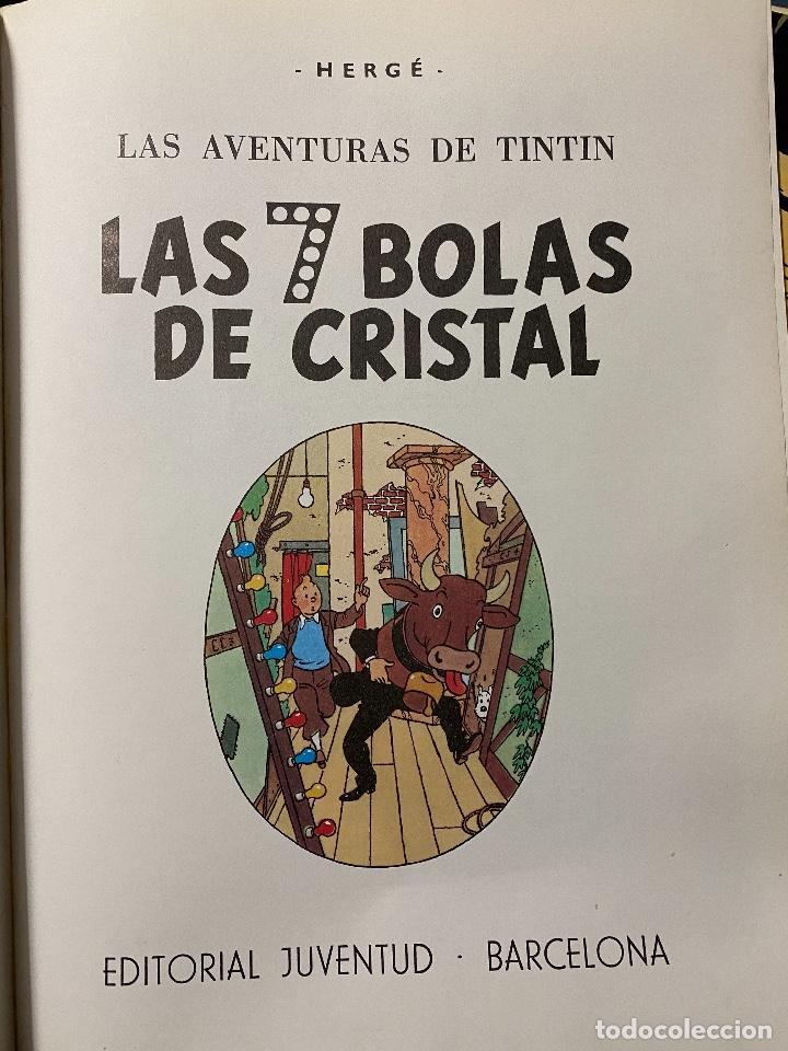 Cómics: Las Aventuras de Tintin. Las 7 Bolas de Cristal. Hergé Tapa blanda. Juventud- 1986.MBE TEVENI - Foto 2 - 204369092