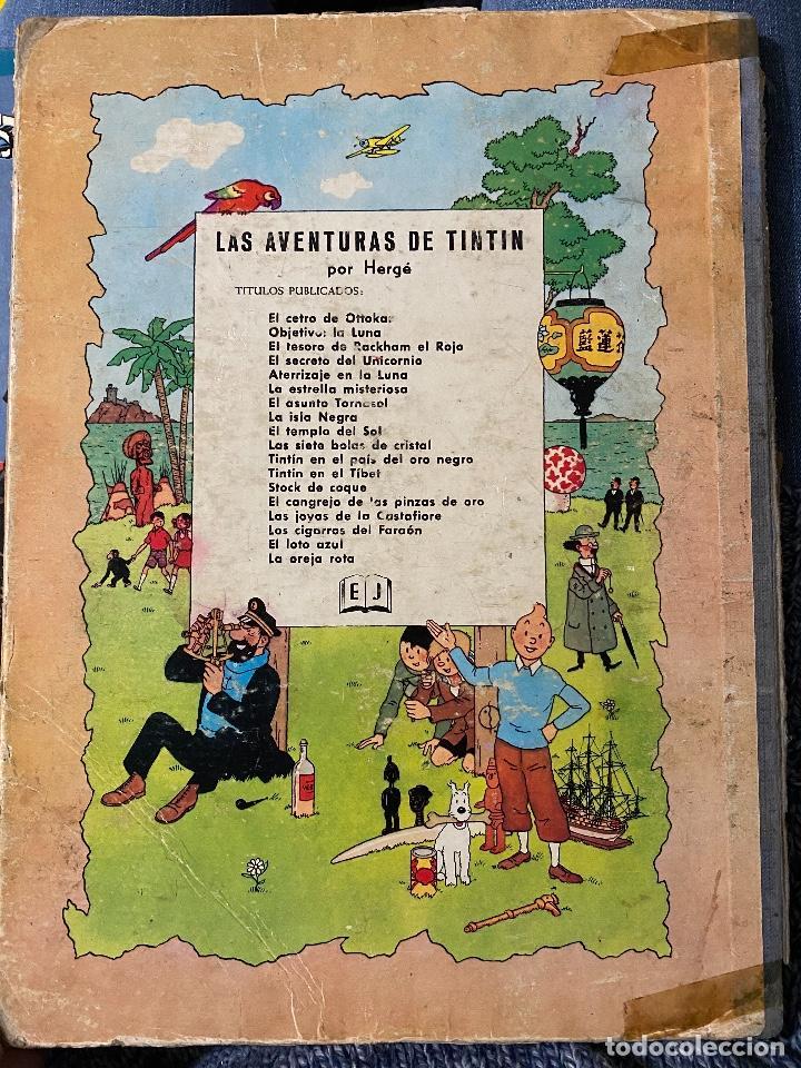 Cómics: LAS AVENTURAS DE TINTIN - El loto azul primera edición año 1965 - JUVENTUD - Foto 4 - 204369971
