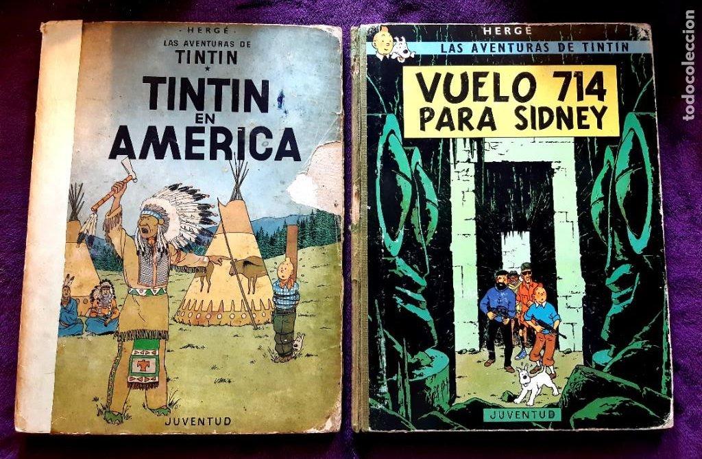 LOTE DE 2 TINTIN 1ª EDICION (Tebeos y Comics - Juventud - Tintín)