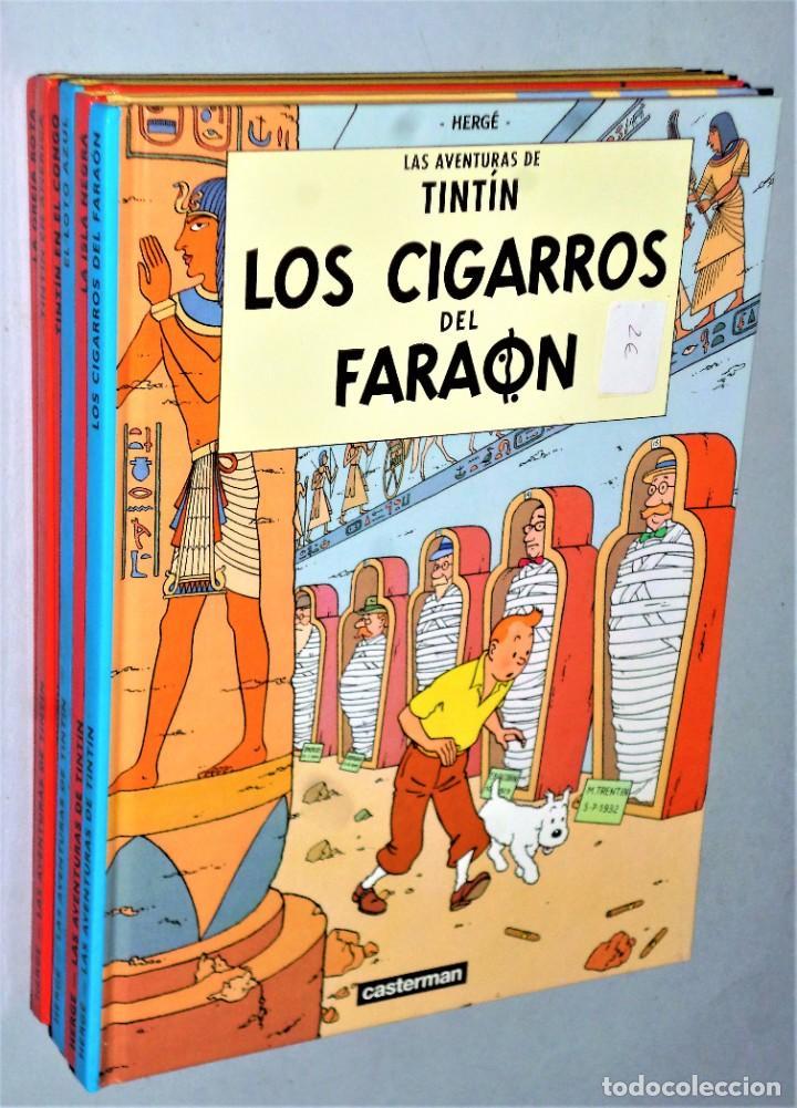 LOTE DE 6 LIBROS DE LAS AVENTURAS DE TINTIN (Tebeos y Comics - Juventud - Tintín)