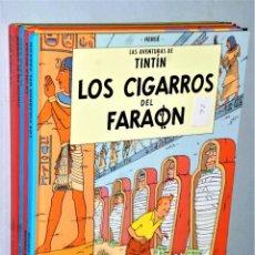 Cómics: LOTE DE 6 LIBROS DE LAS AVENTURAS DE TINTIN. Lote 204972548