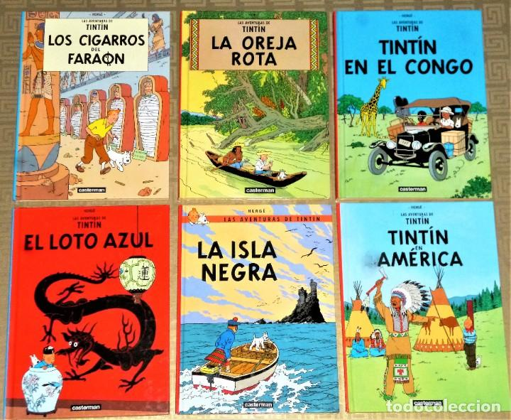Cómics: LOTE DE 6 LIBROS DE LAS AVENTURAS DE TINTIN - Foto 2 - 204972548
