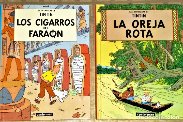 Cómics: LOTE DE 6 LIBROS DE LAS AVENTURAS DE TINTIN - Foto 3 - 204972548