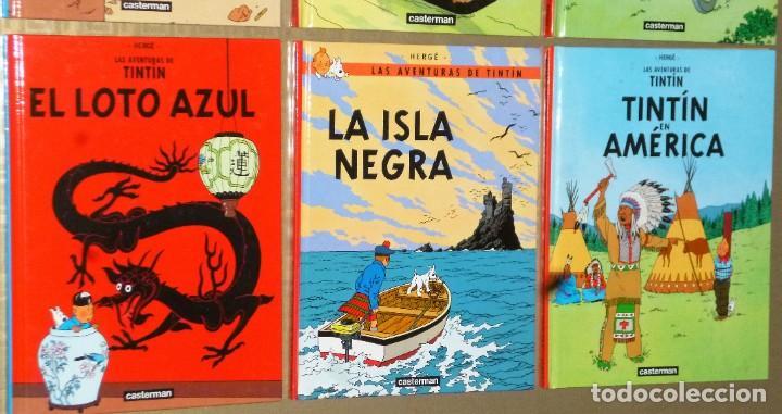 Cómics: LOTE DE 6 LIBROS DE LAS AVENTURAS DE TINTIN - Foto 4 - 204972548