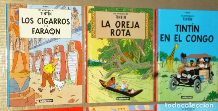 Cómics: LOTE DE 6 LIBROS DE LAS AVENTURAS DE TINTIN - Foto 5 - 204972548
