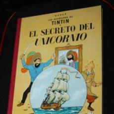 Cómics: TINTIN, EL SECRETO DEL UNICORNIO (LOMO DE TELA -EN MUY BUEN ESTADO).5ª EDICION DE 1972. Lote 205176586