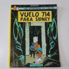 Cómics: TINTÍN VUELO 714 PARA SIDNEY TAPA BLANDA EDITORIAL JUVENTUD 1988 10 EDICIÓN. Lote 205318167