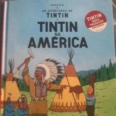 Cómics: CÓMIC TEBEO TINTÍN NA AMERICA TINTÍN EN AMERICA EDICIÓN PORTUGUESA ASA. Lote 205731573