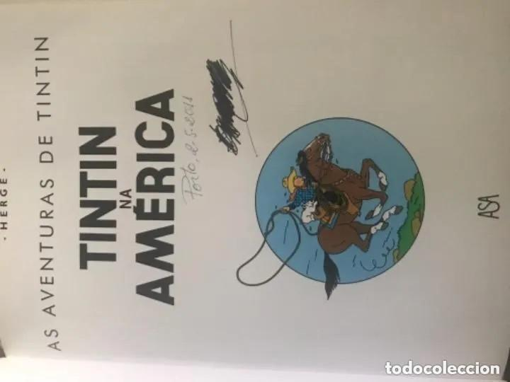 Cómics: CÓMIC TEBEO TINTÍN NA AMERICA TINTÍN EN AMERICA EDICIÓN PORTUGUESA ASA - Foto 2 - 205731573