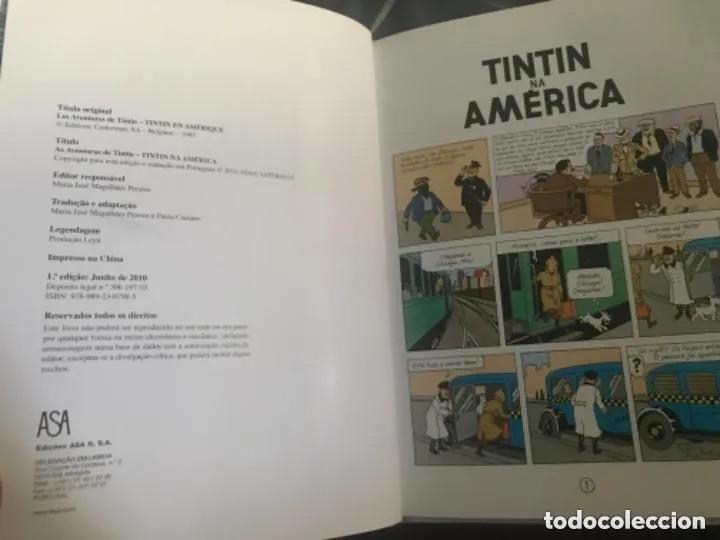 Cómics: CÓMIC TEBEO TINTÍN NA AMERICA TINTÍN EN AMERICA EDICIÓN PORTUGUESA ASA - Foto 3 - 205731573