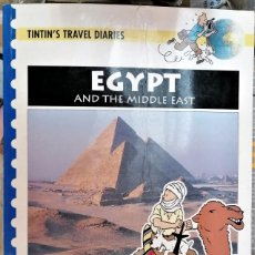Cómics: TINTIN: TRAVELS DIARIES, EGYPT AND THE MIDDLE EAST EN INGLÉS - CLC. Lote 206477628