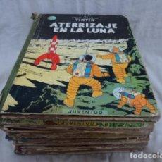 Comics: MAGNIFICO LOTE DE TINTIN HERGE LAS AVENTURAS DE TINTIN JUVENTUD 11 TOMOS ANTIGUOS AÑOS 70. Lote 206485092