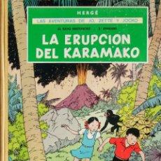 Cómics: HERGÉ. LAS AVENTURAS DE JO, ZETTE Y JOCKO. EL RAYO MISTERIOSO EPISODIO 2º. LA ERUPCIÓN DEL KARAMAK. Lote 206787335