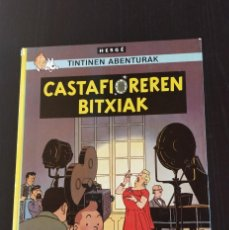 Cómics: (TAPA DURA) TINTINEN ABENTURAK 2DA EDICION EUSKERA 'CASTAFIOREREN BITXIAK' _ ELKAR 1988 _. Lote 207213851