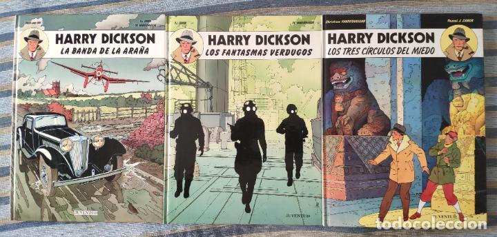 HARRY DICKSON Nº 1, 2 Y 3 (COLECCION COMPLETA) - ZANON Y VANDERHAEGHE (JUVENTUD 1989) (Tebeos y Comics - Juventud - Otros)