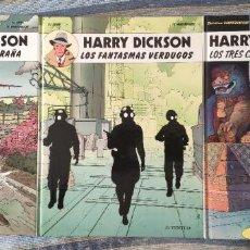 Cómics: HARRY DICKSON Nº 1, 2 Y 3 (COLECCION COMPLETA) - ZANON Y VANDERHAEGHE (JUVENTUD 1989). Lote 207279083