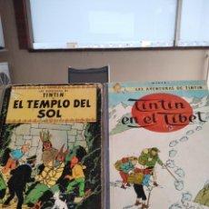 Cómics: TINTIN-LOTE DE 2 -EL TEMPLO DEL SOL 2ª EDICION Y TINTIN EN EL TIBET EDICION 1965-VER ESTADO. Lote 207335495