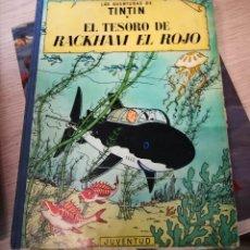 Cómics: TINTÍN- EL TESORO DE RACKHAM EL ROJO - TELA ENVÍO CERTIFICADO 6,99. Lote 207773945