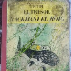 Cómics: LES AVENTURES DE TINTIN EL TRESOR DE RACKHAM EL.ROIG, JUVENTUD 1 EDICION 1965. LOMO ROJO. Lote 207884253