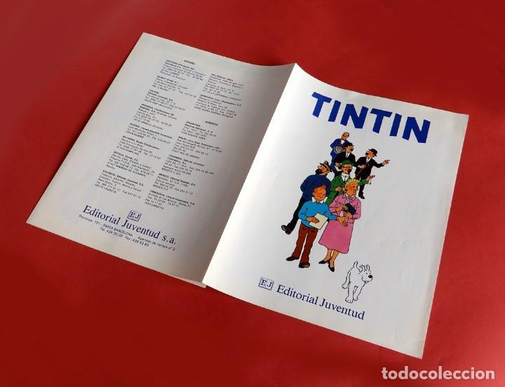 Cómics: FOLLETO TRÍPTICO DE TINTIN Y HERGÉ DE EDITORIAL JUVENTUD Y MARCAPAGÍNAS - ORIGINAL - NUEVO - DIFÍCIL - Foto 2 - 208418153
