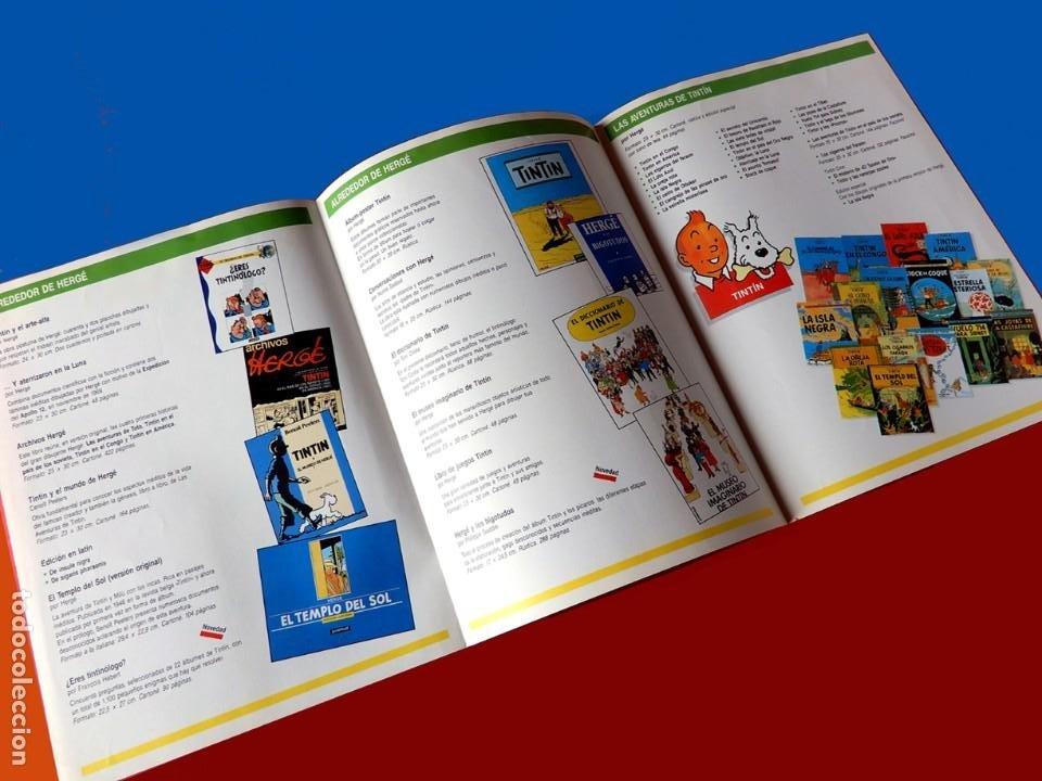 Cómics: FOLLETO TRÍPTICO DE TINTIN Y HERGÉ DE EDITORIAL JUVENTUD Y MARCAPAGÍNAS - ORIGINAL - NUEVO - DIFÍCIL - Foto 3 - 208418153