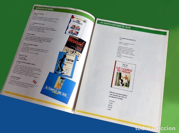 Cómics: FOLLETO TRÍPTICO DE TINTIN Y HERGÉ DE EDITORIAL JUVENTUD Y MARCAPAGÍNAS - ORIGINAL - NUEVO - DIFÍCIL - Foto 4 - 208418153