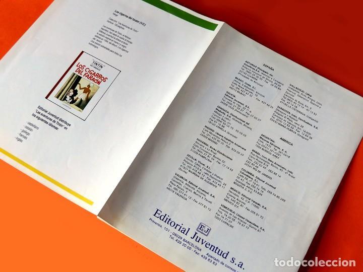 Cómics: FOLLETO TRÍPTICO DE TINTIN Y HERGÉ DE EDITORIAL JUVENTUD Y MARCAPAGÍNAS - ORIGINAL - NUEVO - DIFÍCIL - Foto 5 - 208418153