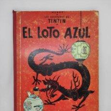 Fumetti: TINTIN. EL LOTO AZUL. TERCERA EDICION 1970. LOMO DE TELA ROJO.. Lote 208891056